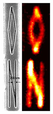 Hyperlens image of letter-shaped nanowires