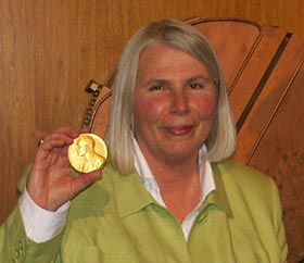 Susan Gregory with returned medal