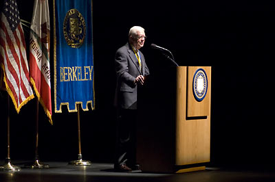 Jimmy Carter speaks at Zellerbach