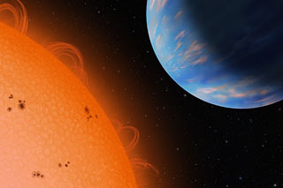 exoplanet orbiting dwarf star