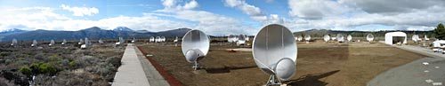 Panoramic image of Allen Telescope Array
