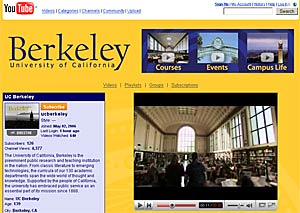 UC Berkeley page on YouTube