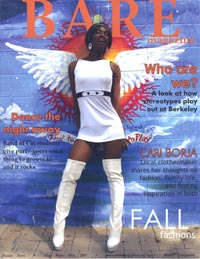 Sophomore Arielle Scott on cover of BARE magazine