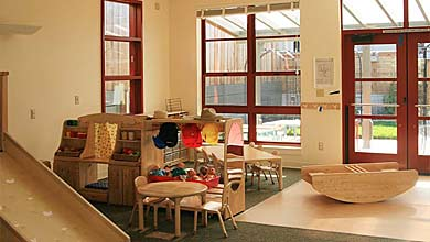 Playroom at child care center