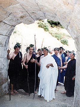 Judges enter tunnel leading to Nemea stadium