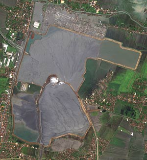 Satellite image of the Lusi mud volcano