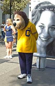 Oski at launch ceremony