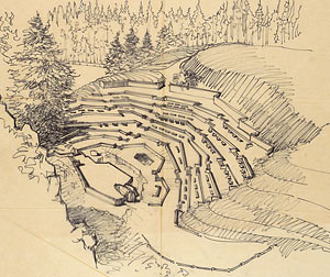 Captivating Quarry Theater Drawing