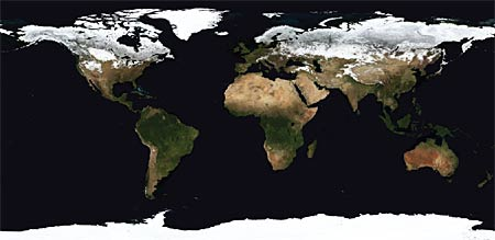 images of the Earth's land surface for February 2002