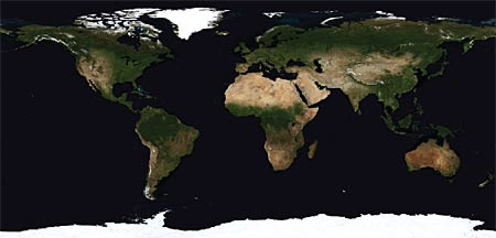 images of the Earth's land surface for July 2002