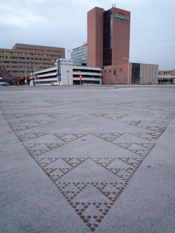 Fractal image created in downtown Albuquerque by Miguel Arzabe
