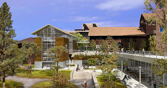 Artist's rendering of planned renovations to the Naval Architecture Building
