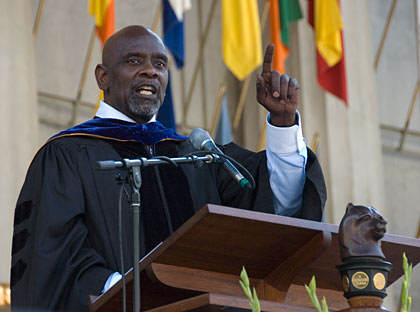 Chris Gardner delivers the keynote address