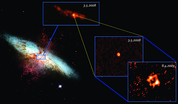 multiple images of the galaxy M82