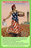 Lady Liberty green poster