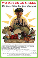 Vegetable vendor green poster