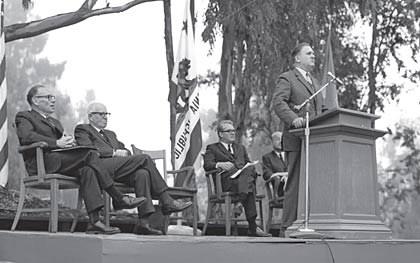 1966 dedication of Space Sciences Lab