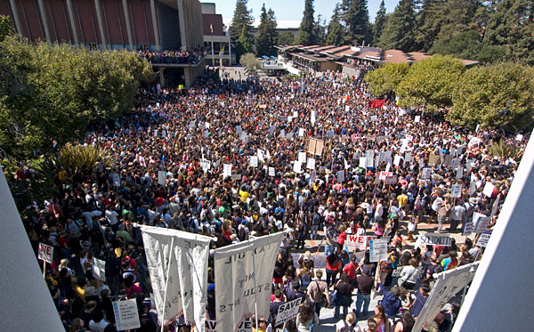 Protesters fill Sproul Plaza