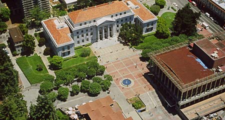 Aerial View Of Sproul Plaza
