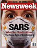 Newsweek cover on SARS