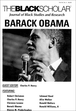 The fall 2008 edition of The Black Scholar, guest edited by Black Studies chair Charles Henry