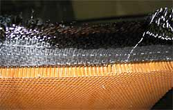 Carbon fiber sandwiching honeycomb sheet