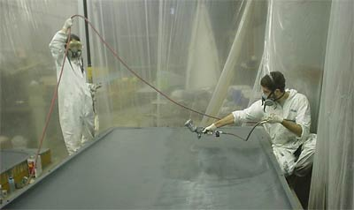 Spraying the mold