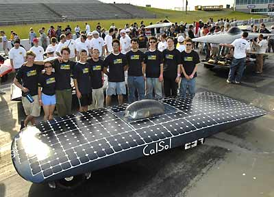 CalSol team poses with the car