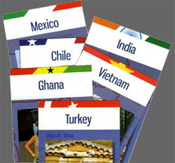 Brochures on some of the UC Education Abroad destinations covered by the Gilman Scholarship.
