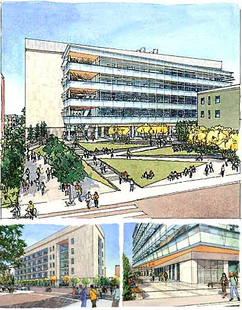 Artist's rendering ot proposed building.