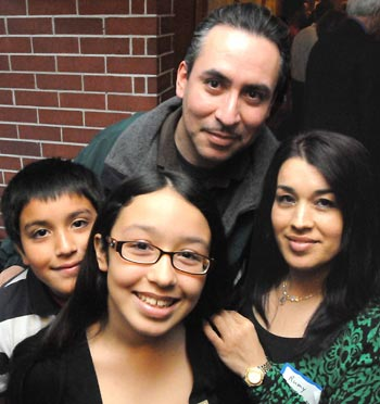 Alexa Vasquez with her family