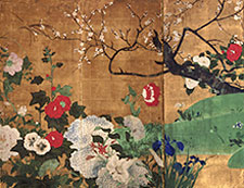 Painted Japanese panel