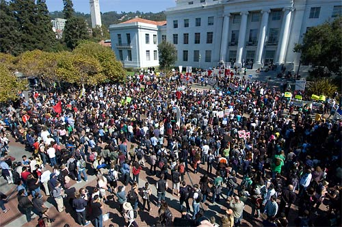 Sproul Plaza noon rally