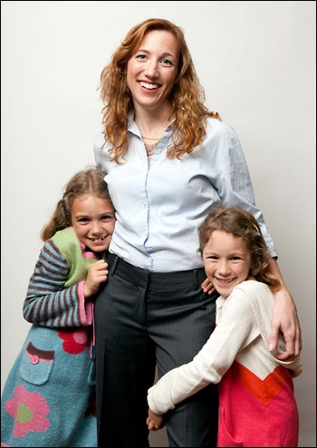 Christine Carter with her two daughters