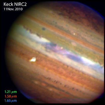 Keck telescope image of Jupiter