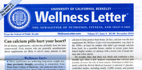 Under the UC Berkeley Wellness Letter masthead, editors at the School ...