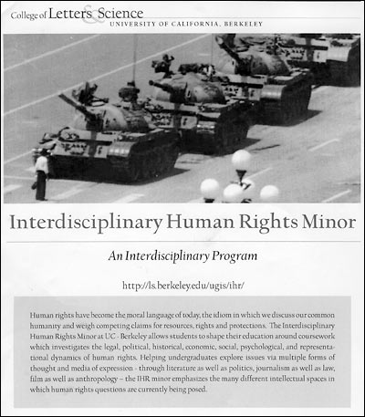 Flier advertising human-rights minor