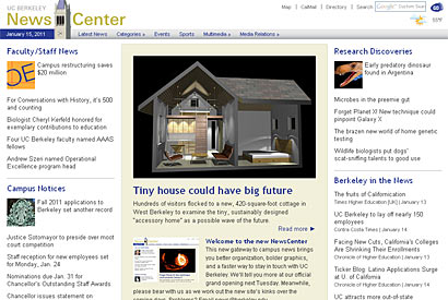 Berkeley NewsCenter gets a makeover