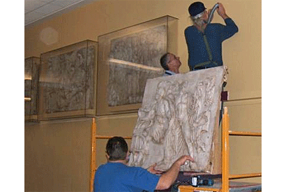 Antiquity reborn: Parthenon casts mounted in Dwinelle lobby