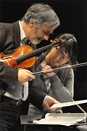 Concertmaster Honeck with UC Symphony concertmaster