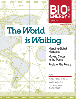 Cover of spring 2011 edition of BioEnergy Connection