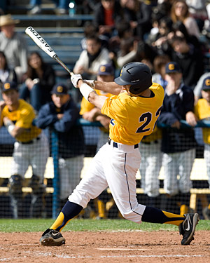 Cal outfielder Vince Bruno at bat