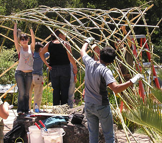 woven-bamboo structure