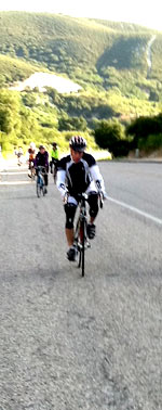 Cyclists climb Day 3's infamous Quadbuster