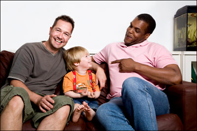 gay dads with young son