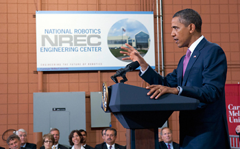 President Obama at Carnegie Mellon University.