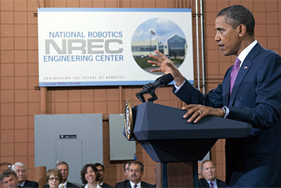 Campus asked by President Obama to help boost investment in manufacturing