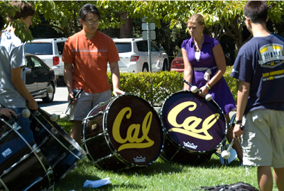 Cal Band bass drums