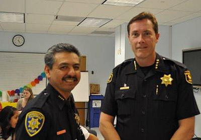 Police chiefs Mitch Celaya and Michael Meehan