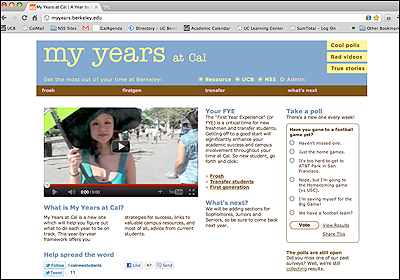My Years At Cal website screenshot
